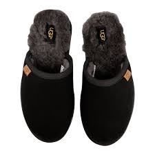 Mens Slippers With Lights Mens Scuff Slippers Black Gray