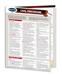Civil Procedure Rules Chart Civil Procedure Quick Reference Guide 4 Page Laminated Chart Canadian Law