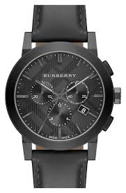 men s burberry check stamped chronograph leather strap watch 42mm men s burberry check stamped chronograph leather strap watch 42mm