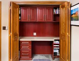 home office in a cupboard.  Office Tom Mayfield Closet Organizing Systems Is A Finalist In The 2014 Top  Shelf Design Awards Competition With His Project  To Home Office In A Cupboard