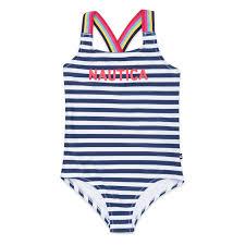 Girls Logo One Piece Swimsuit In Stripe
