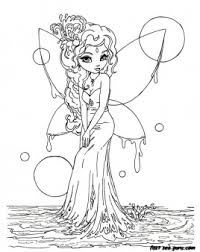 Printable Beautiful Fairy On Water Coloring In Pages Printable