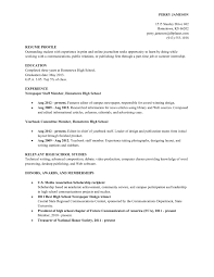 Simple Resume Samples Basic Examples For High School With 25