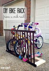 diy bike rack crib rail