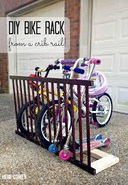 diy bike rack crib rail