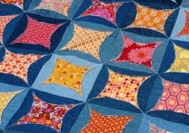 Circle Quilt Patterns Amazing Recycled Blue Jeans Quilt