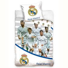 real madrid cf stars ronaldo bale single duvet cover and pillowcase set co uk kitchen home