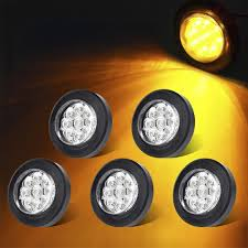 2 Inch Round Led Lights Amazon Com Tohuu 2 Inch Round Led Side Marker Lights Amber