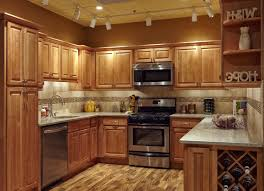 Sunshiny Granite Counter With Bulb Lamp Decoration Then Cream Tile Kitchen  Backsplash Together With Solid Wood