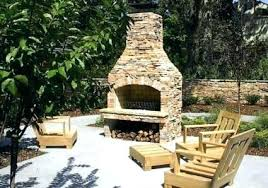 outdoor fireplace kits kit from stone age manufacturing inc free standing wood burning prefab