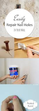 easily repair nail holes in your wall pickled barrel