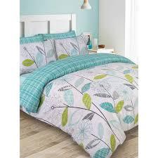 allium dandelion double duvet cover and pillowcase set teal