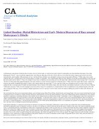 Pdf Linked Reading Digital Historicism And Early Modern