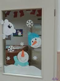 Fensterbild Winter Schneemann Kerst Knutselen Kerst