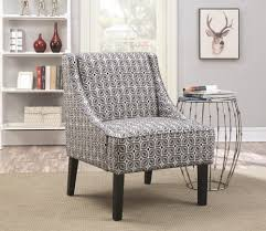 Blue Pattern Accent Chair Custom Blue Accent Chair With Ottoman Elegant Blue Pattern Accent Chair