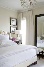 white bedroom with dark furniture. Light Beige Walls With Same Tone Curtains High U0026 White Bedding Dark Furniture Perfect Bedroom O