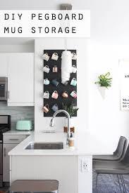 Cute funny diy coffee mug designs ideas try Https Hang Coffee Mugs On Pegboard Lifehack 26 Best Diy Coffee Mug Holder Ideas And Projects For 2019