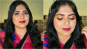 indian wedding guest makeup tutorial gold pink eyes indian makeup