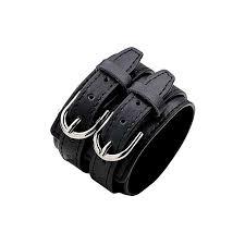 new stylish cowhide men s wide leather bracelet vintage bracelet black