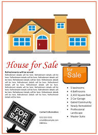 home for sale template house for sale flyer template
