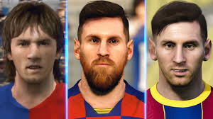 Pes 2017   lionel messi   latest face & hairstyle. Lionel Messi Evolution From Pes 4 To Pes 2021 Youtube
