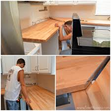 installing butcher block joining corners