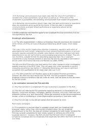 Memorandum Of Understanding Between The Financial Conduct Authority
