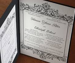 Baroque Wedding Invitations Baroque Letterpress Wedding Invitation Bilingual German