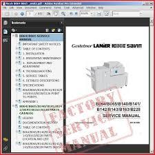 ricoh aficio service and repair manual ricoh b064 b065 service manual bookmark 1