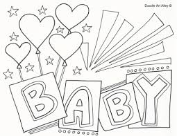 baby shower coloring pages warm baby shower coloring pages page of a celebration doodles