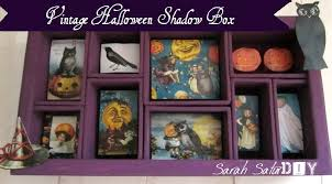 How To Decorate Shadow Boxes Vintage Halloween Decorations Purple Patch DIY Crafts Blog 49