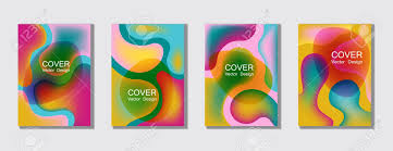 Chemistry Cover Page Designs Fluid Colors Cover Page Layout Backgrounds Set Bubble Fluid