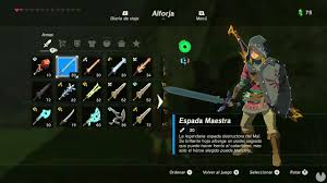 Resultado de imagen de armas de the legend of zelda breath of the wild