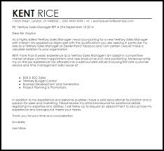 B2b Sales Letter Template Territory Sales Manager Cover Letter