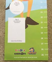 Baby Chart Unique RARE NEW TOYS R Us Babies R Us Geoffrey Giraffe Kids Toddler Growth