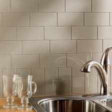 While, not recommended for flooring, it is a stunning pick for walls, ceilings, and backsplashes. Aspect 3x6 Inch Putty Decorative Wall Tile 8 Pack Overstock 10517243