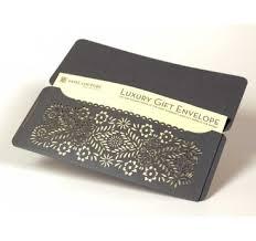 Custom Design Laser Cut Gift Envelopes And Gift Card Holders