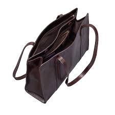 womens leather work tote bag