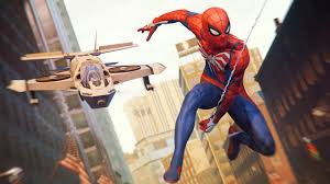 Spider man ps4 2017 game hd wallpapers, hanging, focus on foreground. Spider Man Ps4 4k 8k Hd Wallpaper