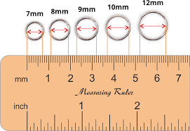 Trojan Groove Size Chart Nose Ring Sizes Chart Earring Diameter Size Chart Nose