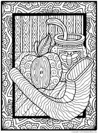 Calming Coloring Pages For Adults And Shalom Coloring Jewish