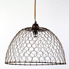 Chicken Wire Pendant Light Adorable Basket Lamp Barn Burlap Lighting Shades  1