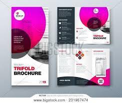 Tri Fold Brochure Vector Photo Free Trial Bigstock