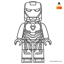 Coloring Page For Kids How To Draw Lego Iron Man Crafting Lego