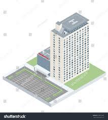 Hospital Heliport Design Isometric Hospital Heliport Parking Eps10 Vector Stock
