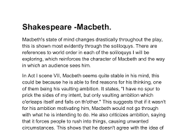 macbeth s state of mind gcse english marked by teachers com document image preview