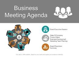 Agenda Business Business Meeting Agenda Ppt Inspiration Powerpoint Slides