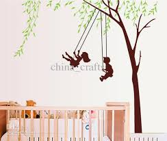 Small Picture Removable Kids Room Wall Decor On The Swings Wall Art Stickers