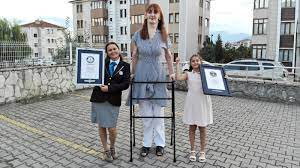 Rumeysa Gelgi: 'Inspirational' Turkish woman who is over 7ft sets record  for tallest female in the world | World News