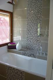 glass mosaic blends shower tile